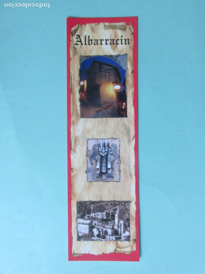 MARCAPAGINAS VIS TAS DE ALBARRACÍN (Coleccionismo - Marcapáginas)