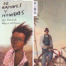 Coleccionismo Marcapáginas: MARCAPAGINAS: DE RATONES Y HOMBRES - EDELVIVES. Lote 236789675