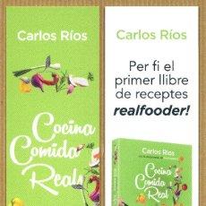 Coleccionismo Marcapáginas: MARCAPÁGINAS PAIDOS - COCINA COMIDA REAL. Lote 227261165