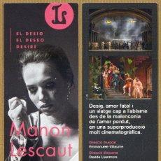 Coleccionismo Marcapáginas: MARCAPÁGINAS LICEU - MANON LESCAUT. Lote 254486220