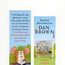 Coleccionismo Marcapáginas: MARCAPÁGINAS - BAO BAB - LA SINFONÍA DE LOS ANIMALES - DAN BROWN. Lote 297352748