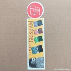 Coleccionismo Marcapáginas: MARCAPAGINAS JOHN GRISHAM. PUNTO DE LECTURA. Lote 232424195