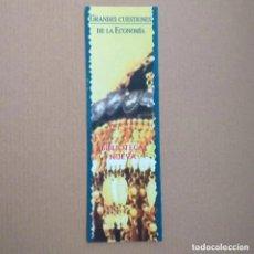 Coleccionismo Marcapáginas: MARCAPAGINAS GRANDES CUESTIONES DE LA ECONOMÍA. BIBLIOTECA NUEVA. Lote 233735700