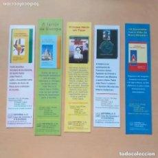 Coleccionismo Marcapáginas: MARCAPAGINAS. LOTE 5 EDITORIAL A.O. BRAGA. A IGRESA NA EUROPA PRINCESA MARTIR EM TIMOR, EUCARISSTIA. Lote 234110570