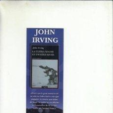 Colecionismo Marcadores de página: MARCAPÁGINAS. JOHN IRVING. LA ÚLTIMA NOCHE EN TWISTED RIDER. TUSQUESTS EDITORES.. Lote 234557735