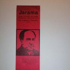 Coleccionismo Marcapáginas: ANTIGUO MARCAPAGINAS LIBRERÍA JARAMA - A. MACHADO. Lote 235156430