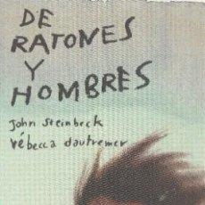 Coleccionismo Marcapáginas: MARCAPAGINAS EDITORIAL EDELVIVES DE RATONES Y HOMBRES. Lote 277305983
