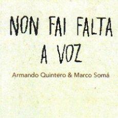 Coleccionismo Marcapáginas: MARCAPAGINAS: NON FAI FALTA A VOZ - OQO - (GALLEGO). Lote 236567850