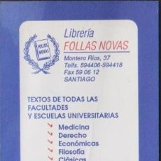 Coleccionismo Marcapáginas: MARCAPAGINAS FOLLAS NOVAS CALENDARIO 1991 BOOKMARK POINT BOOK MARCADOR MARCA PAGINA PUNTO DE LIBRO. Lote 237594350