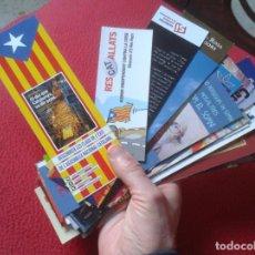 Coleccionismo Marcapáginas: LOTE DE 38 MARCAPÁGINAS BOOKMARKS TEMÁTICA CATALANISTA CATALUNYA POLÍTICA INDEPENDENCIA CIU ERC..ETC. Lote 238729700