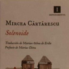Coleccionismo Marcapáginas: MARCAPÁGINAS EDITORIAL IMPEDIMENTA .SOLENOIDE .MIRCEA CARTARESCU... Lote 268917784