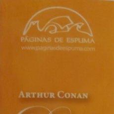 Coleccionismo Marcapáginas: MARCAPÁGINAS EDITORIAL PAGINAS DE ESPUMA .DOYLE .ARTHUR CONAN -. Lote 263189590