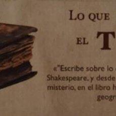 Colecionismo Marcadores de página: MARCAPÁGINAS EDITORIAL LA FACTORIA DE IDEAS.LO QUE DEVORA EL TIEMPO.ANDREW HARTLEY-. Lote 243789140