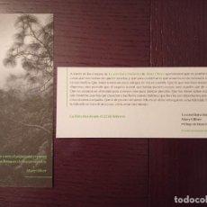 Coleccionismo Marcapáginas: MARCAPÁGINAS. ERRATA NATURAE. MARY OLIVER. LA ESCRITURA INDÓMITA. Lote 244610840