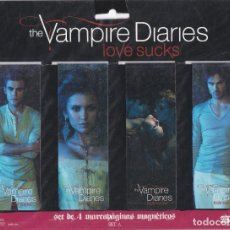 Coleccionismo Marcapáginas: SET DE 4 MARCAPAGINAS AGNÉTICOS VASADOS EN LA PELICULA THE VAMPIRE DIARIES LOVE SUCKS. Lote 244785115