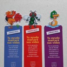 Coleccionismo Marcapáginas: LOTE DE 3 MARCAPÁGINAS/ PUNTOS DE LIBRO INFANTILES (CON POEMAS DE GLORIA FUERTES). Lote 245191145