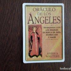 Coleccionismo Marcapáginas: MARCAPÁGINAS, PUNTO DE LIBRO, ORÁCULO DE LOS ÁNGELES, AMBIKA WAUTERS.. Lote 249610785