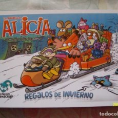 Coleccionismo Marcapáginas: MARCAPAGINAS TIPO POSTAL LA ABUBILLA ALICIA DE GONZALO DIEZ CHAPU REGALOS DE INVIERNO UNRATED COMICS. Lote 251673510