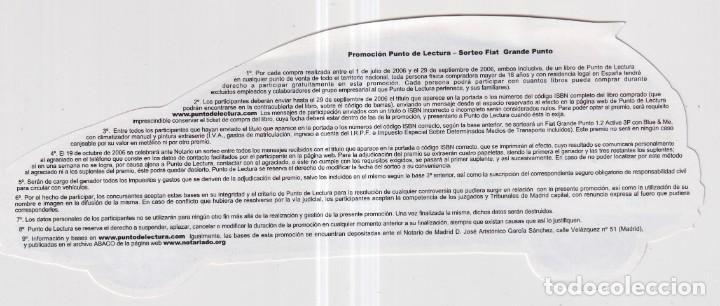 Coleccionismo Marcapáginas: Marcapáginas de Edición de Punto de Lectura un gran libro y un coche - Foto 2 - 252956660