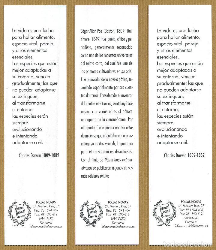 Coleccionismo Marcapáginas: 3 MARCAPAGINAS FOLLAS NOVAS - Foto 2 - 253311585