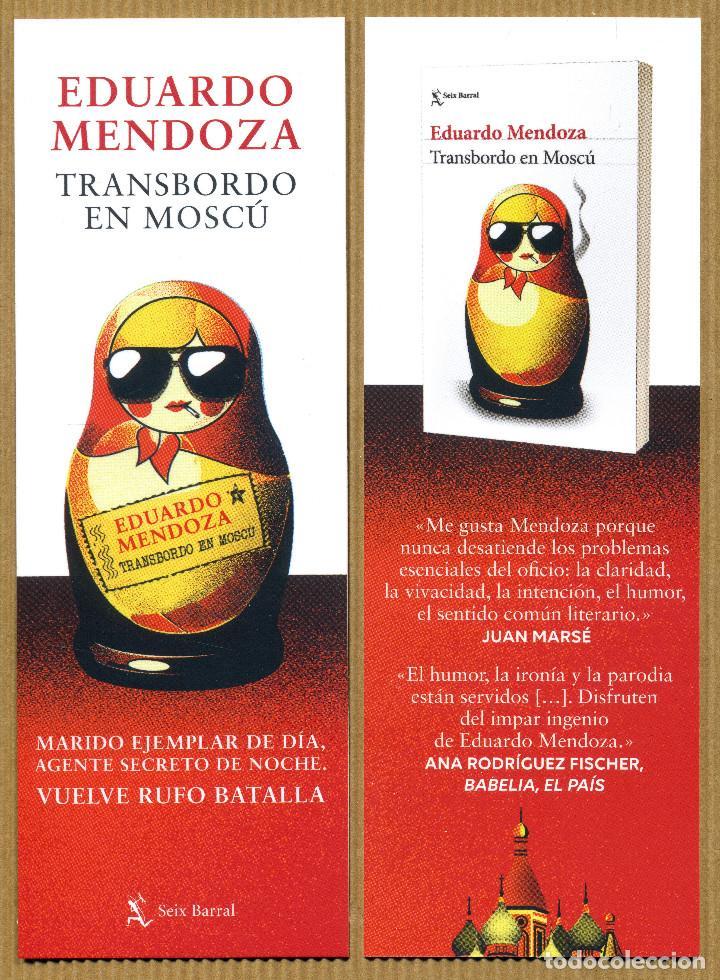 MARCAPAGINAS SEIX BARRAL - TRANSBORDO EN MOSCU (Coleccionismo - Marcapáginas)