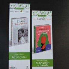 Coleccionismo Marcapáginas: MARCAPÁGINAS - ESPASA - LOS INGRATOS - PEDRO SIMÓN - NO HAY GACELAS EN FINLANDIA - DIMAS PRYCHYSLYY. Lote 254272120