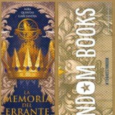 Coleccionismo Marcapáginas: MARCAPAGINAS FANDON BOOKS - LA MEMORIA DEL ERRANTE. Lote 257302075