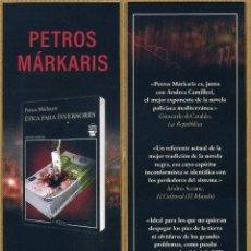 Coleccionismo Marcapáginas: MARCAPAGINAS EDITORES TUSQUETS - ETICA PARA INVERSORES. Lote 257305895