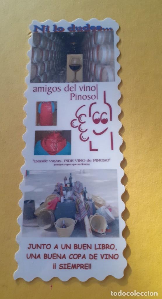 MARCAPAGINAS DE PLASTICO DE LOS AMIGOS DEL VINO DE PINOSO (Coleccionismo - Marcapáginas)