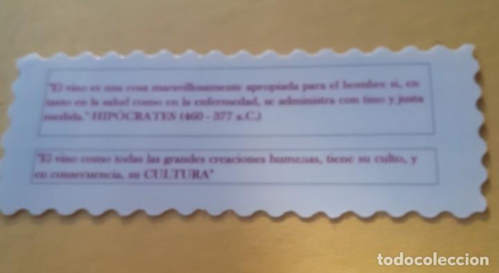 Coleccionismo Marcapáginas: marcapaginas de plastico de los amigos del vino de Pinoso - Foto 2 - 257913170