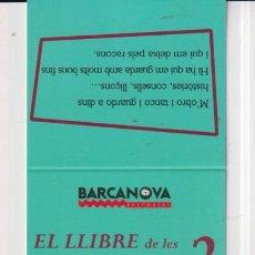 Coleccionismo Marcapáginas: MARCAPÁGINAS EDITOR BARCANOVA TUTULO EL LLIBRFE DE LES ENDEVINALLES 2. Lote 261564625