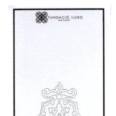Coleccionismo Marcapáginas: MARCAPAGINAS DE LA CASA COLL I REGÁS DE MATARÓ. FUNDACIO ILURO.(1). Lote 262054965