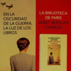 Coleccionismo Marcapáginas: MARCAPÁGINAS EDITORIAL SALAMANDRA .LA BIBLIOTECA DE PARIS.JANET SKESLIEN CHARLES-. Lote 263189660
