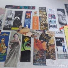 Coleccionismo Marcapáginas: CONJUNTO DE 18 CURIOSOS MARCAPÁGINAS / MUY BUEN ESTADO.. Lote 266355588