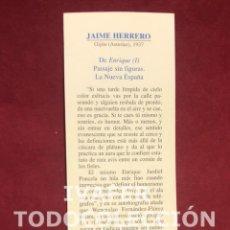 Coleccionismo Marcapáginas: MARCAPAGINAS LITERASTURA CON CALENDARIO 1997,TEXTO AUTOR ASTURIANO JAIME HERRERO, CONSEJERIA CULTURA. Lote 268906624