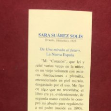Coleccionismo Marcapáginas: MARCAPAGINAS LITERASTURA CON CALENDARIO 1997,TEXTO SARA SUAREZ SOLIS, CONSEJERIA CULTURA. Lote 268906649