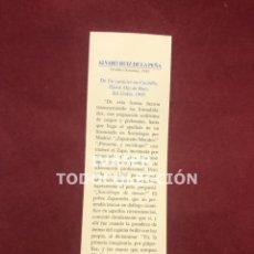 Coleccionismo Marcapáginas: MARCAPAGINAS LITERASTURA CON CALENDARIO 1997,TEXTO ALVARO RUIZ DE LA PEÑA ,CONSEJERIA CULTURA. Lote 268906664
