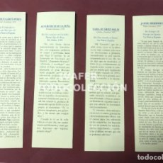 Coleccionismo Marcapáginas: LOTE 4 MARCAPAGINAS CON TEXTOS DE LITERATOS ASTURIANOS Y CALENDARIO 1997,CONSEJERIA CULTURA ASTURIAS. Lote 268906704