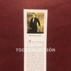 Coleccionismo Marcapáginas: MARCAPAGINAS LITERATURA ASTURIANA, BIOGRAFIA Y TEXTO OBRA DE XOXE CAVEDA Y NAVA, 1997. Lote 268906834