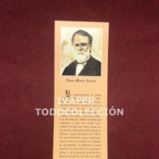 Coleccionismo Marcapáginas: MARCAPAGINAS LITERATURA ASTURIANA, BIOGRAFIA Y TEXTO OBRA DE XUAN MARIA ACEBAL, 1997. Lote 268906844