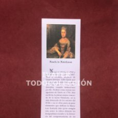 Coleccionismo Marcapáginas: MARCAPAGINAS LITERATURA ASTURIANA, BIOGRAFIA Y TEXTO OBRA DE XOSEFA DE XOVELLANOS, 1997. Lote 268906939