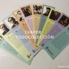 Coleccionismo Marcapáginas: LOTE 10 MARCAPAGINAS LITERATURA ASTURIANA CON BIOGRAFIA Y TEXTOS DE AUTORES ESCRITO EN ASTURIANO. Lote 268906989