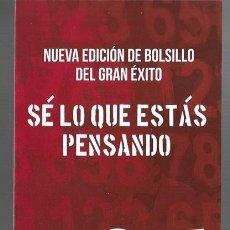 Coleccionismo Marcapáginas: 1 MARCAPAGINAS LITERARIO **SE LO QUE ESTAS PENSANDO, NO HAY ESCAPATORIA -- EDIC. ROCA BOLSILLO. Lote 268914629