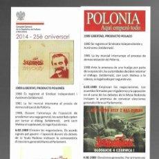 Coleccionismo Marcapáginas: 1 MARCAPAGINAS **POLONIA, AQUI EMPEZO TODO. HISTORIA Y VIDA. MUSEU HISTORIA CATALUNYA. 2014. Lote 268915384