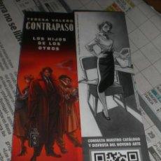 Coleccionismo Marcapáginas: MARCAPÁGINAS CONTRAPASO HIJOS DE LOS OTROS, EDITORIAL NORMA. Lote 270953233