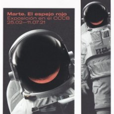Coleccionismo Marcapáginas: DUO DE MARCAPAGINAS EXPOSICION CCCB EL MIRALL VERMELL. Lote 270990878