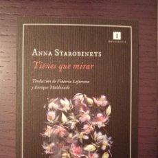 Coleccionismo Marcapáginas: MARCAPÁGINAS. IMPEDIMENTA. ANNA STAROBINETS. TIENES QUE MIRAR. Lote 277536888