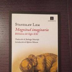 Coleccionismo Marcapáginas: MARCAPÁGINAS. IMPEDIMENTA. STANISLAW LEM. MAGNITUD IMAGINARIA. Lote 277536903