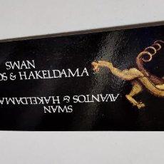 Coleccionismo Marcapáginas: SWAN AVANTOS & HAKELDAMA MARCAPAGINAS PUNTO DE LECTURA. Lote 277601538