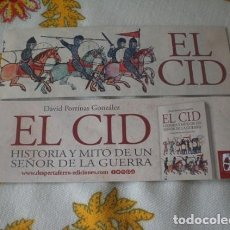 Coleccionismo Marcapáginas: MARCAPÁGINAS CID, DESPERTA FERRO. Lote 277611838